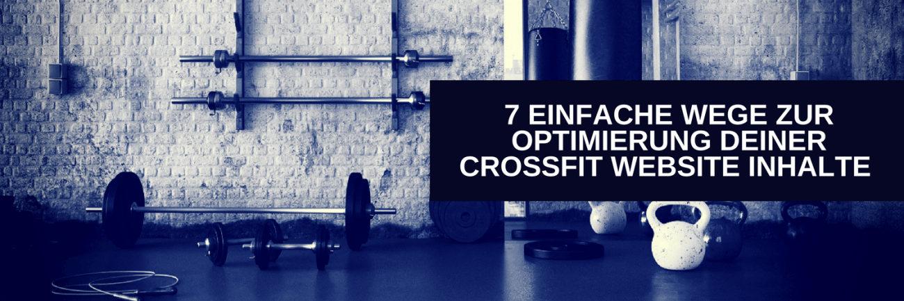 Crossfit Website Optimierung