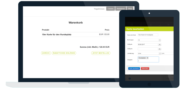 Buchungslimitierung Web und iPad