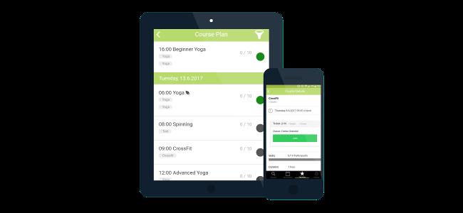 Bequem mit dem iPhone oder Android Fitness Kurse buchen